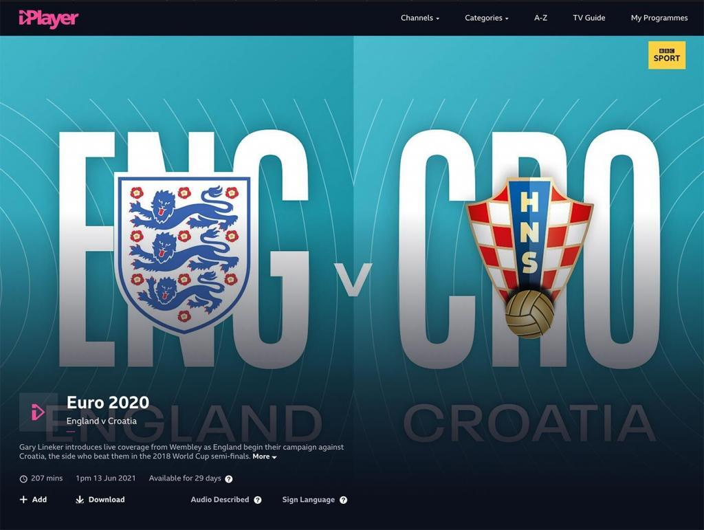 Watch EURO 2020 on BBC iPlayer From Abroad